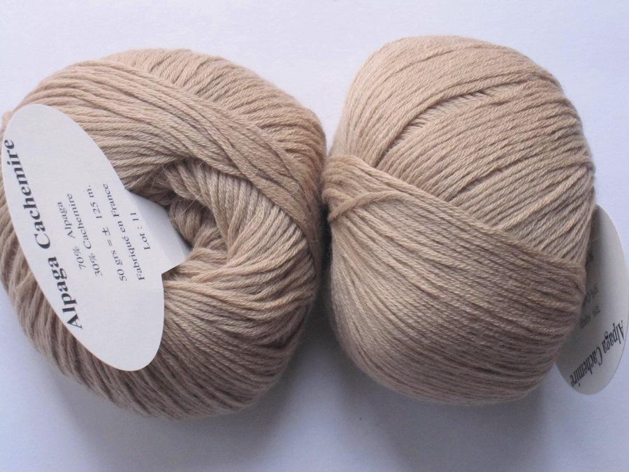 841080bdf92 1 Pelote 70 alpaga 30 cachemire beige Textiles de la Marque   Toutes ...