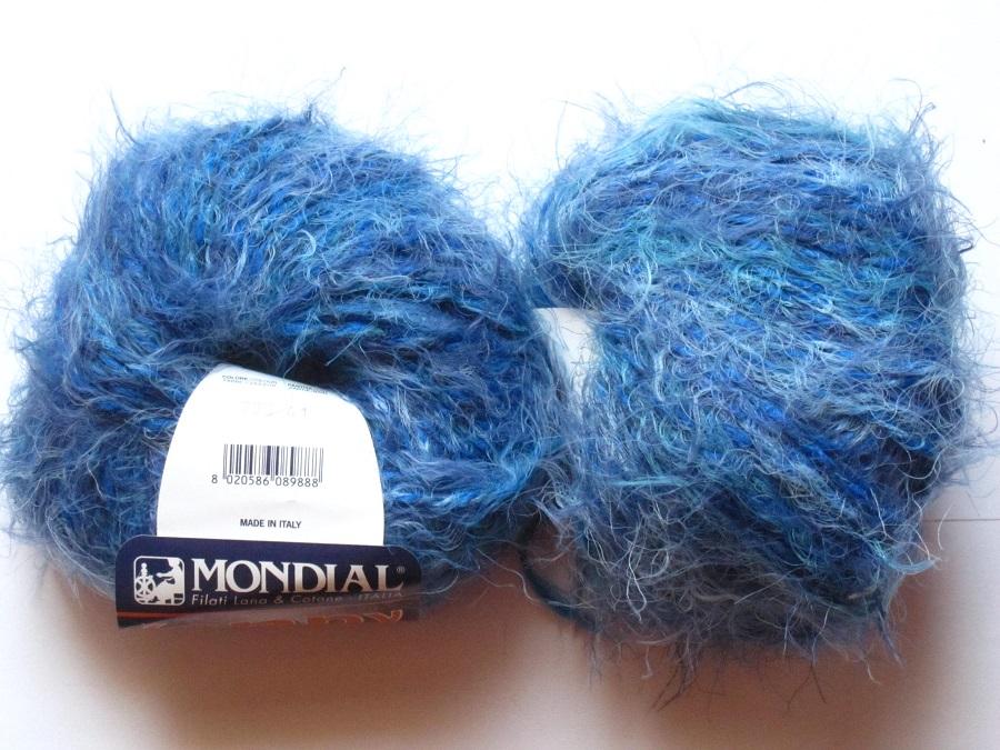 82eabe519de3 9 pelotes avec laine Jenny bleu 795 Mondial Mondial   Toutes en ...